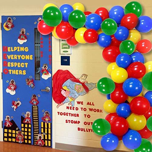 60 piezas Globos de fiesta, Kit de decoración de guirnaldas, Globos de látex confeti para bodas, feliz cumpleaños, aniversario (carnaval)