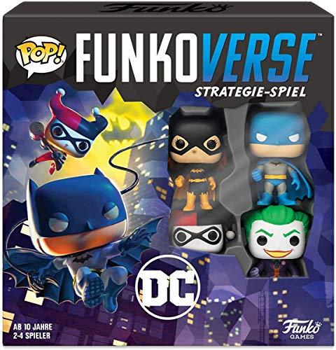 Funko 43463 DC100 Funkoverse (4 Charaktere Pack) Brettspiel, Multi Colour
