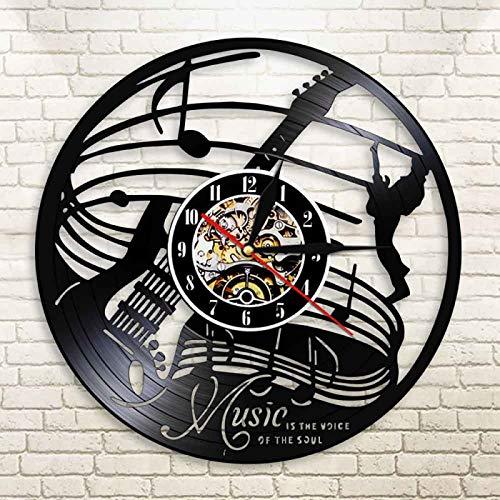 CVG Music es la Voz del Alma Reloj de Pared con Disco...