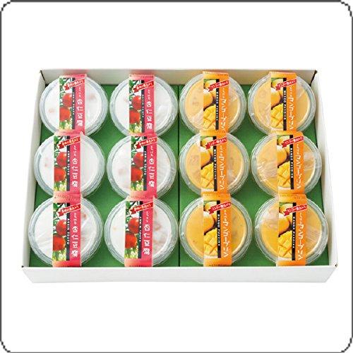 とろけるマンゴープリン・杏仁豆腐12個セット