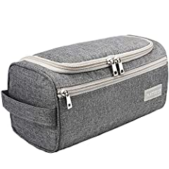 HIGH-QUALITY DURABLE MATERIAL: This exceptional toiletry travel bag by Pantheon is made of attractive Cationic Oxford cloth, which is known for its lightweight yet durable qualities, the perfect combination for traveling. This specific material is wa...