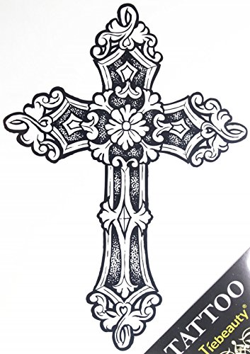 Fake Tatuaggi alla moda vendita calda Grande Croce Tatuaggi per gli uomini