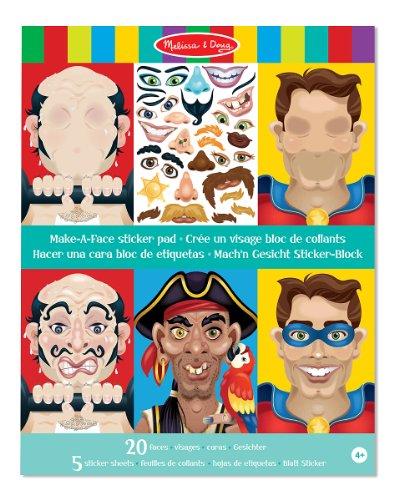 Melissa & Doug stickerblok - creëer een gekke gezicht (160 stickers)