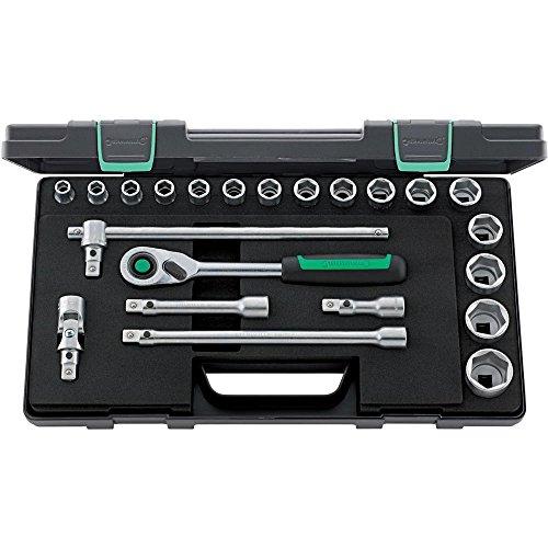 Stahlwille 96031480 Quick-Release-Sortiment 22-teilig, im robusten, stapelbaren ABS-Kunststoffkasten