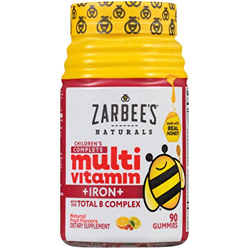 Zarbee's Naturals Children's Complete Multivitamin + Iron, Fruit Flavors, 90 Gummies