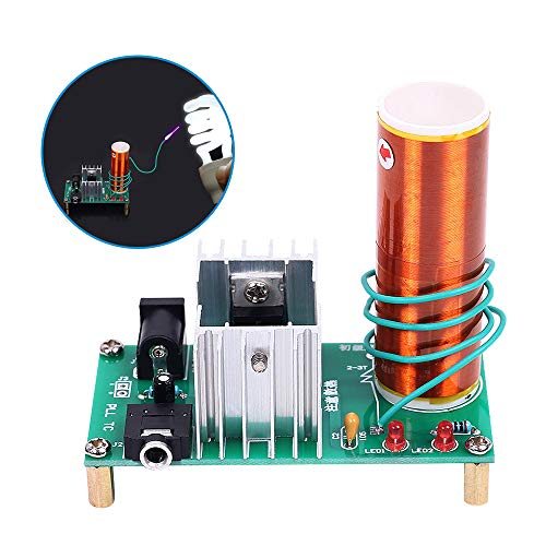 YEMIUGO Mini Tesla Coil DIY Kit DC 15-24V 15W Tesla Music Coil Plasma Speaker Electronic Kit Arc Plasma Scientific Toy