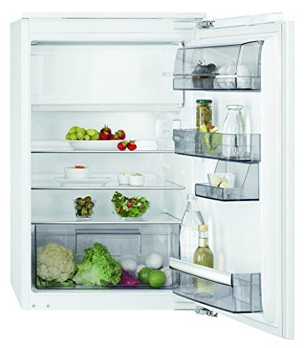 AEG SFB68821AF Kühlschrank mit Glasablagen / Gefrierfach mit Frostmatic für schnelles und schonendes Gefrieren / EEK A++ (148 kWh/Jahr) / 103L Kühlschrank / 14L Gefrierfach / Einbau-Höhe: 88 cm / weiß