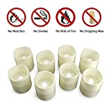 Lavish Home FBA_72-0008 Flameless, Battery Operated LED Bulb, 8-Piece Candle Set for Votive Holders – Home, Wedding, Bridal Shower, Christmas Decor