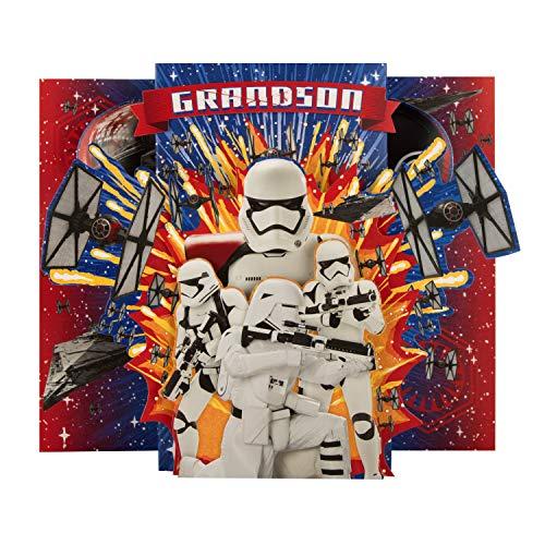 Verjaardagskaart voor kleinzoon van Hallmark - Star WarsTM Super Card 'Stormtrooper' Design