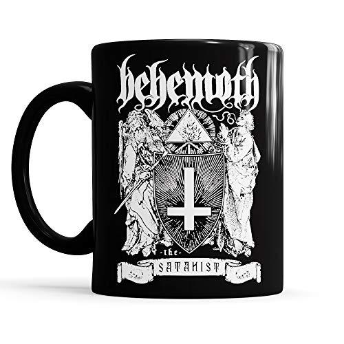 LaMAGLIERIA Tasse Total Black Mug Behemoth The Satanist - Tee/Kaffee-keramiktasse Metal Band, Schwarz
