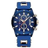 WATCH Armbanduhr, Quarzuhr, Herrenuhr 'S Ultra-Light Simple Quartz Women' S Multifunktionale Sportuhr für die Arbeitssuche im Freien,E Blau frei