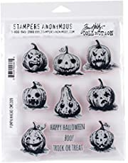 "Stampers Anonymous""Pumkinhead Tim Holtz Cling Stamps 7"" x 8.5"""