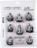 Stampers Anonymous Pumkinhead Tim Holtz Cling Stamps, 7' x 8.5'