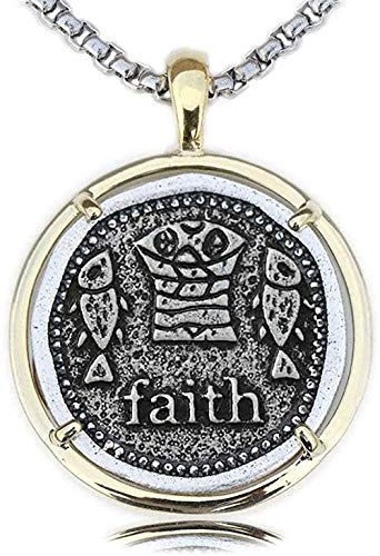 ZGYFJCH Co.,ltd Collar Panes y Peces Collar Bautismo Cristiano Monumento Señor Jesucristo Seguidor religioso