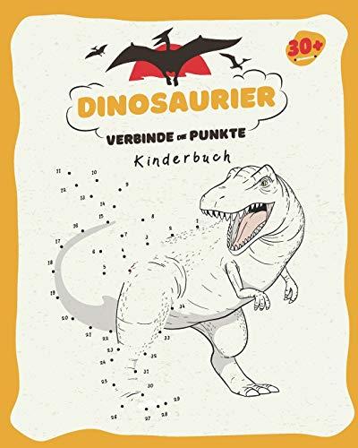 Dinosaurier - Verbinde Die Punkte: Kinderbuch   Nummern 1-80   Alter 3 bis 8   Vorschule, Kindergarten zur Schule   Verbinden Sie die Punkte und ... und färben Sie die Dinosaurierzeichnung