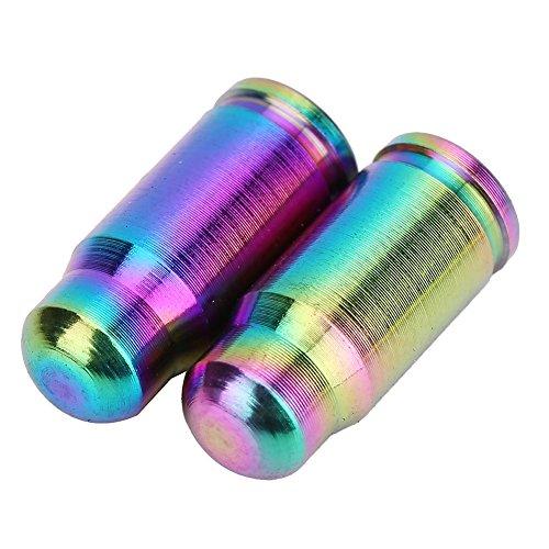 2 Pcs Presta Ventilkappen Fahrrad Titanlegierung Reifenstammluftventilkappen Staubabdeckung ( Farbe : Mehrfarbig ) - 3