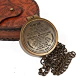 Handcrafted Solid Brass Nautical Camping Compass With Leather Pouch 2 Inch Classic Pocket Size For Hiking Trekking Hunting Survival Compass Outdoor Navigation Directional Gifts For Kids From Mother