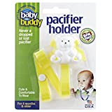 Buddy(ベビーバディ) Baby Buddy(ベビーバディ) Baby Buddy ベビー バディ Bear Pacifier Holder ホワイトベア マルチ クリップ(シングル) Yellow イエロー