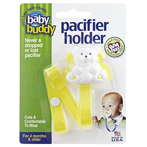 Baby Buddy Pacifier Holder Clip - Cute Fashionable Bear Clips onto Baby's...