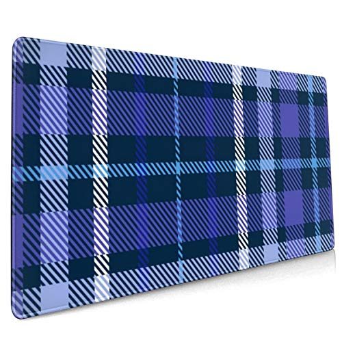Extend Mouse Pad Plaid Check Patten Fabric Print 40 X 90 cm Soft Cloth Gaming Mouse Pad with Smooth Non Slip Base