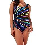 OverDose Soldes Maillot de Bain 1 Pièce Femme Amincissant Dos Nu Push Up Monokini Slim Style Sport Swimsuit Plage