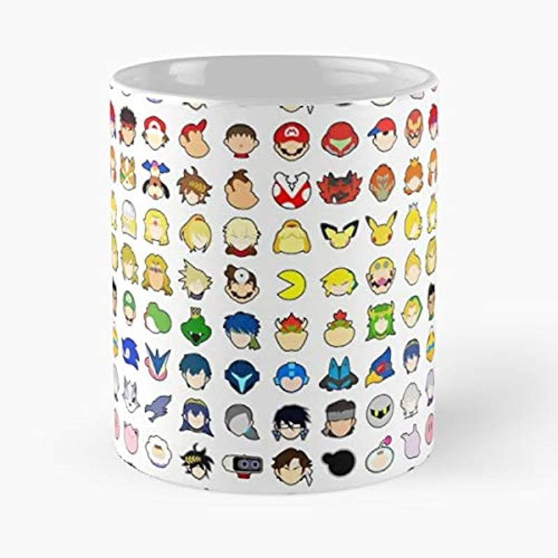 Super Smash Bros Brothers Ultimate Morning Coffee Mug Ceramic Novelty Holiday