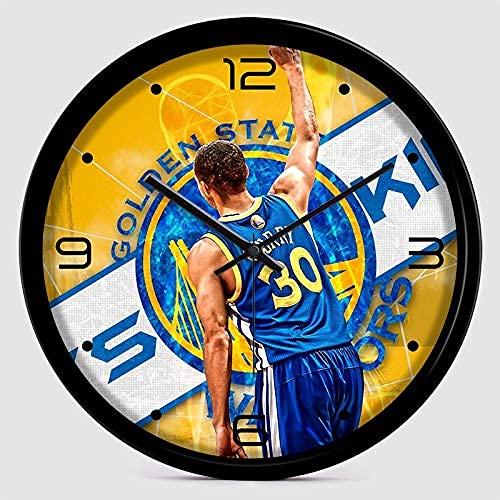 Home Equipment Reloj de Pared de la NBA - Reloj temático Deportivo - Reloj de Pared con Curry - Reloj de Pared para niño - Regalo de cumpleaños de Navidad fanáticos del b
