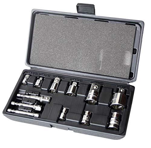 Seconique Corona-set di adattatori per chiavi a bussola a 12 pezzi, 1/10,16 (4 cm, 3/20,32 (8 cm e 1/5,08 cm (2') adattatori punte, Cor C4412)