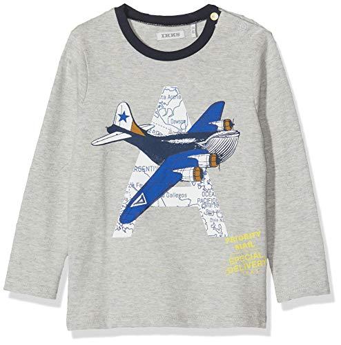 IKKS T-shirt ML grijs vliegtuig jongens - - 3 ans