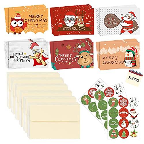 108PCS Set Di Cartoline Di Natale Con Buste,Biglietti Di Natale Con Busta Piccola,Set Di Cartoline Di Natale Con Buste,Set Di Biglietti Di Auguri Di Natale ,Set Di Cartoline Di Natale