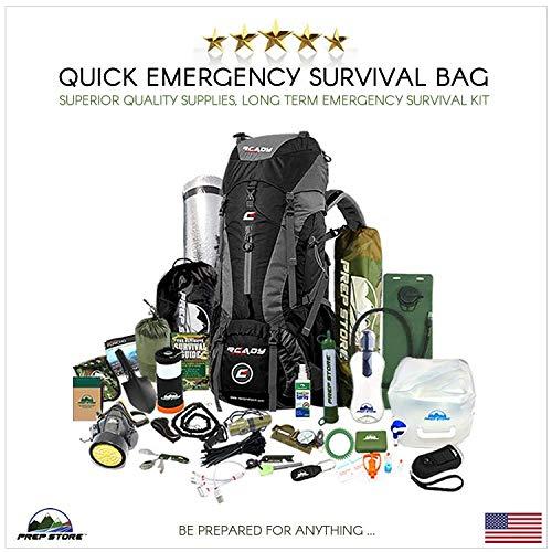 Prep Store - Quick - Emergency Survival Pack - Survival Kit - Bugout Bag - Hurricane Emergency Kit - Survival Bag - Bug Out Bag (Quick Kit)