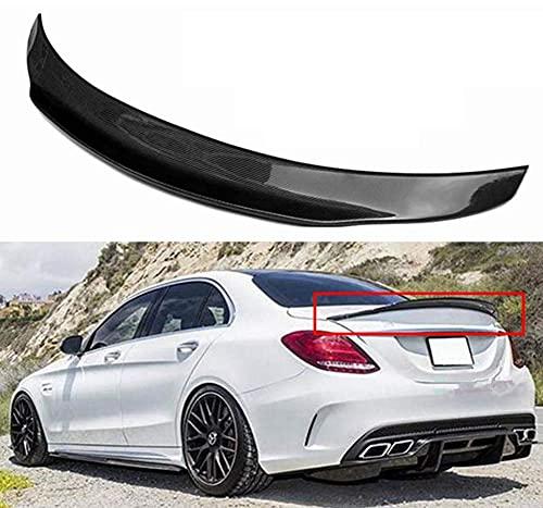 YMSHD Adecuado para Mercedes Benz W205 C63 Amg Psm Spoiler 2015-2017 alerón de Fibra de Carbono alerón de Rendimiento para Maletero