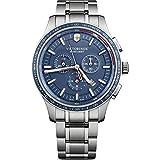 Victorinox Uomo Alliance Sport - Orologio cronografo fabbricato in Svizzera - Argento/Blu 241817