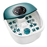Foot Spa/Bath Massager with Heat, Bulbbles, and Vibration, Digital Temperature Control, 16 Masssage
