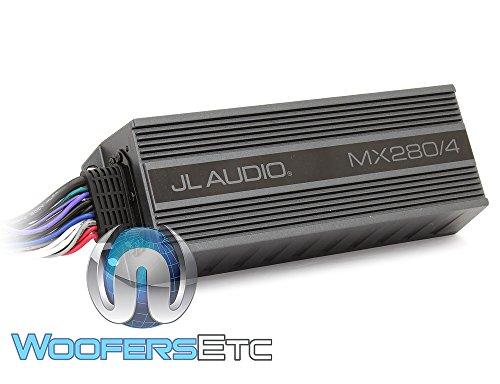 jl audio signal amplifiers JL Audio MX280/4 4-Channel 70W RMS x 4 Compact Marine Amplifier