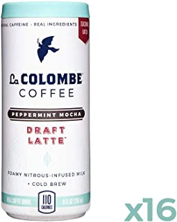La Colombe Peppermint Mocha Draft Latte - 9 Fluid Ounce, 16 Count - Cold-Pressed Espresso And Frothed Milk + Peppermint And Dark Chocolate - Made With Real Ingredients - Grab And Go Coffee