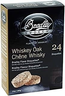 Bradley Smoker BTWOSE24 Bisquettes, Whiskey Oak Special Edition, 24 Pack, One Size