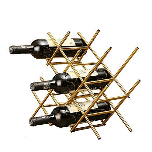 QiHaoHeji wijncassette, decoratief, onafhankelijk van ontvangst van flessenrek, van metaal, Franse stijl, elegant, wijnrek