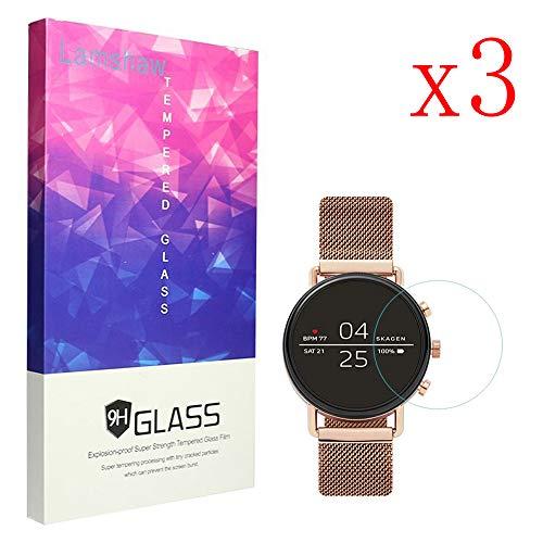 LvBU Für Skagen Falster 2 Bildschirmschutzfolie, 9H Festigkeit Panzerglas Schutzfolie für Skagen Falster 2 Smartwatch (3 Stück)