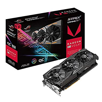 ASUS Radeon RX Vega 64 8GB Overclocked 2048-Bit HBM2 PCI Express 3.0 HDCP Ready Video Card