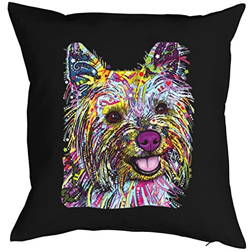Yorkie Pillow, oreiller, almohada, Cuscino Pop Art Style