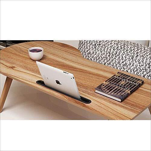 Mesa de centro Escritorio de la computadora de escritorio del ordenador portátil Cama sencilla dormitorio perezosa Escritorio mesa de estudio de escritorio plegable mini-escritorio, roble, 39.3 pulgad