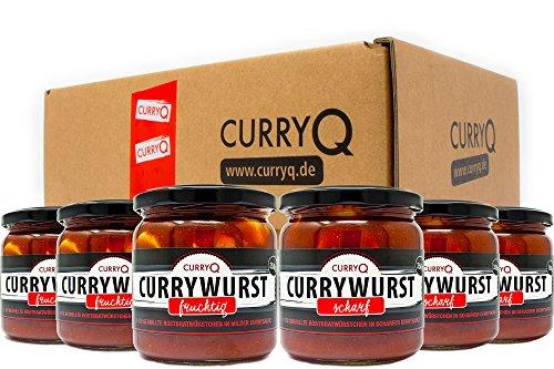 Currywurst im Glas Classic-Box fruchtig und scharf von CurryQ (6x350g)