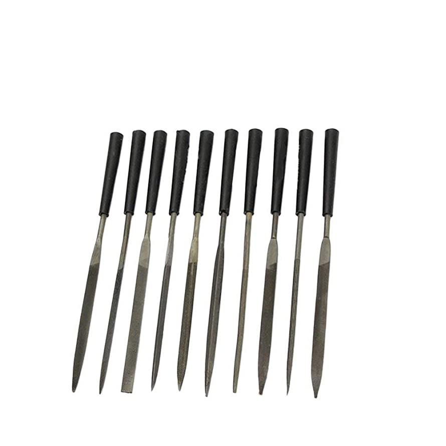 ZXHAO Jewelers Wood Carving Craft Metal Needles Files Set (3x140mm) 10pcs