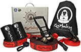 ZenMonkey Slackline Kit with Overhead Training Line, Arm Trainer, Tree Protectors, Cloth Carry Bag...