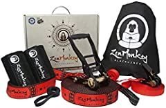 ✔ UNBEATABLE VALUE! The COMPLETE KIT includes: 1) Main line & ratchet, 2) Overhead training line & ratchet, 3) Arm Trainer, 4) Tree protectors set, 5) Cloth carry bag, 6) Setup instructions, 7) Owner's manual, 8) Gift box packaging ✔ EXCLUSIVE FEATUR...