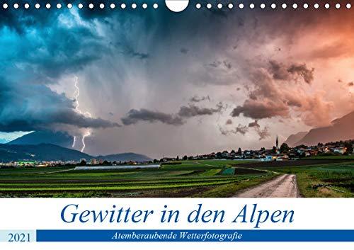 Gewitter in den AlpenAT-Version (Wandkalender 2021 DIN A4 quer)