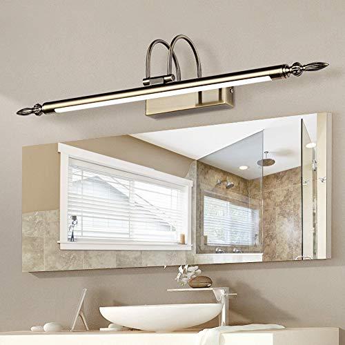 TYSYA Bad Schminklicht Spiegellampe Antike Bronze LED Waschtischleuchte Feuchtigkeitsbeständig Anti-Rost Jahrgang Schrank Licht Displaybeleuchtung,Coldlight,9W/56cm