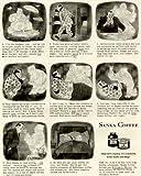 Hilarious Sandman Cartoons in 1942 SANKA Coffee AD Original Paper Ephemera Authentic Vintage Print Magazine Ad/Article