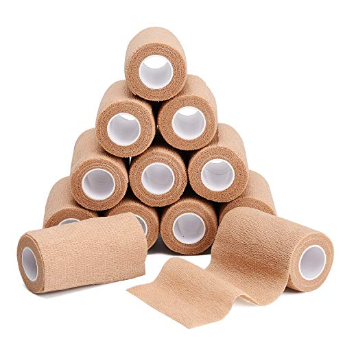 TOBWOLF 12PCS Cohesive Bandage Wrap, 4